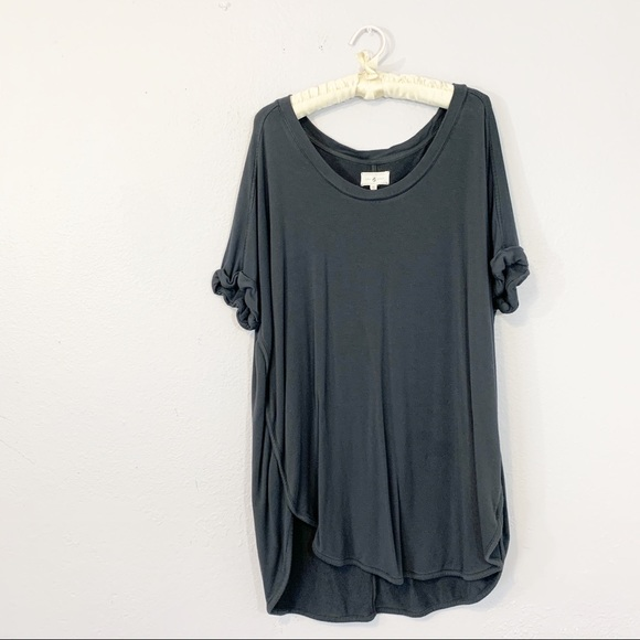 Lou & Grey Tops - LOU & GREY Soft Gray Round Hem Pullover Tunic